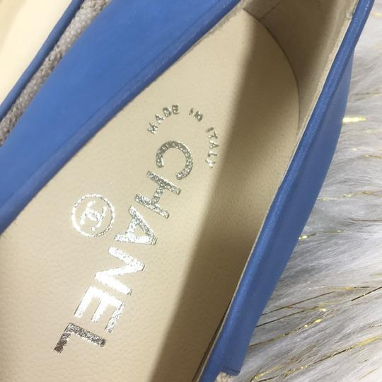 Chanel white blue Flats Image 2