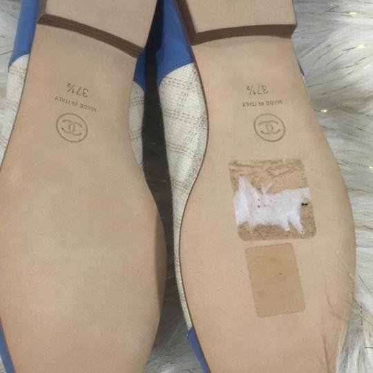 Chanel white blue Flats Image 5