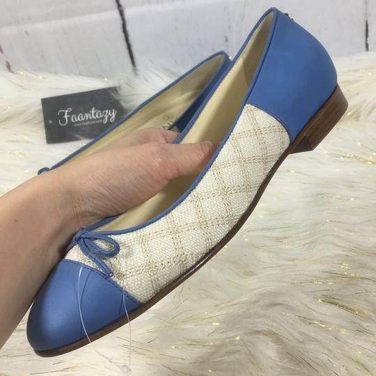 Chanel white blue Flats Image 6
