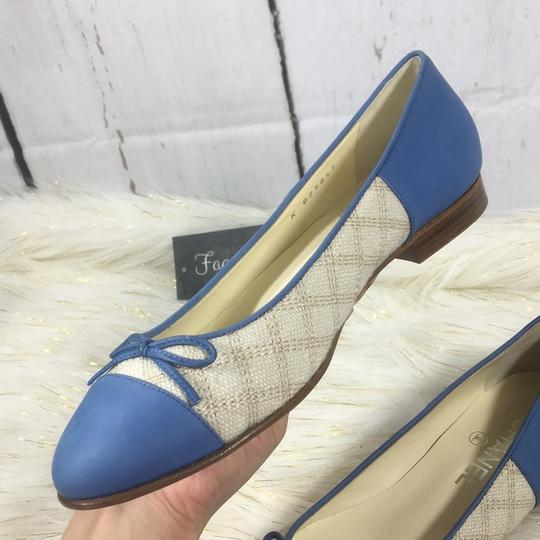 Chanel white blue Flats Image 8