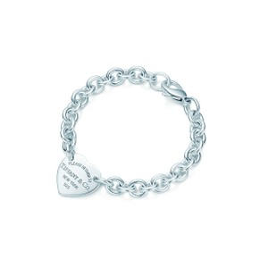 Tiffany & Co. Please Return Heart Tag Sterling Silver Chain Bracelet