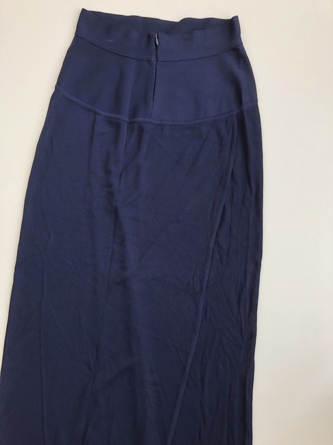 Hervé Leger Stretch Fitted Maxi Skirt Navy Image 1