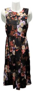 Black / Brown / Red Maxi Dress by ASOS Polyester Floral