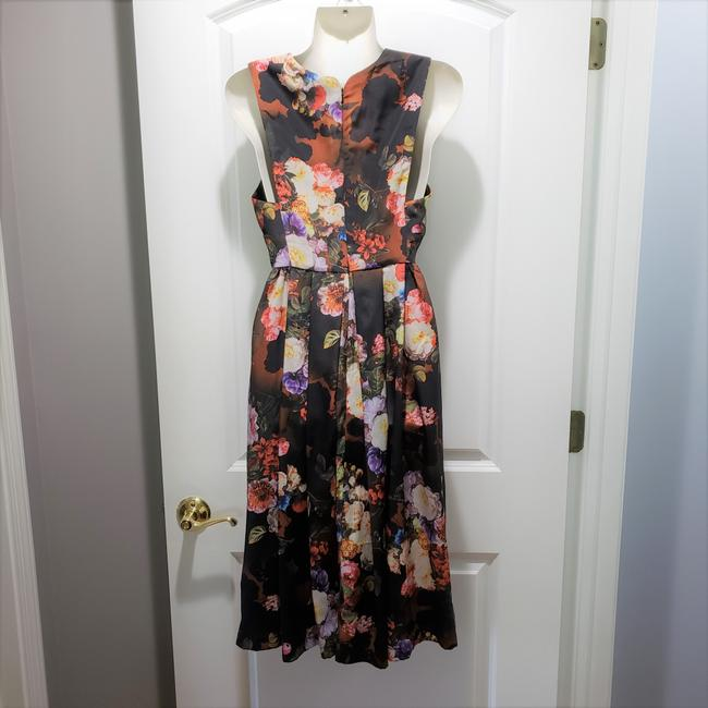 Black / Brown / Red Maxi Dress by ASOS Polyester Floral Image 1