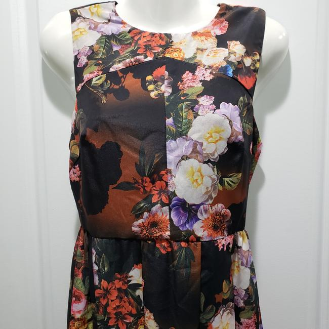 Black / Brown / Red Maxi Dress by ASOS Polyester Floral Image 3
