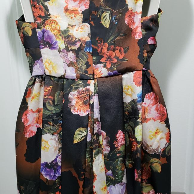 Black / Brown / Red Maxi Dress by ASOS Polyester Floral Image 4