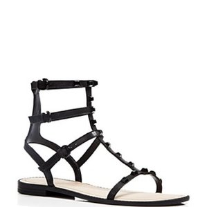 Rebecca Minkoff Black Leather Sandals