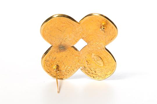 Chanel Chanel Multi-Color Gold-Tone Gripoix Brooch Image 3