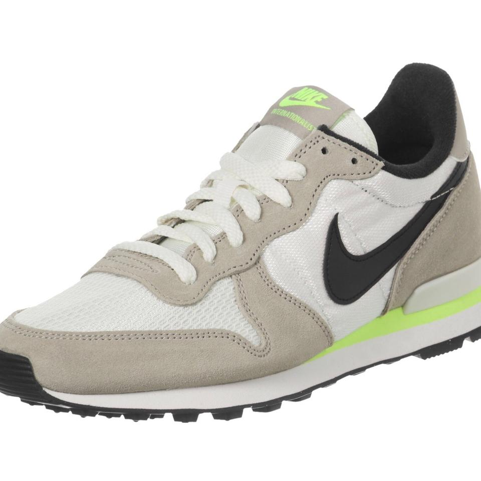 uk store exclusive deals get new Nike White Beige Green Internationalist Women's Gym For Jcrew ...