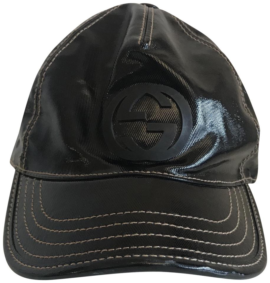 Gucci Black Patent Leather Gg Baseball Cap Hat - Tradesy f7d34b1cce0