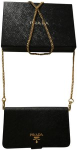 Prada IPhone 8 case saffiano with removable gold chain