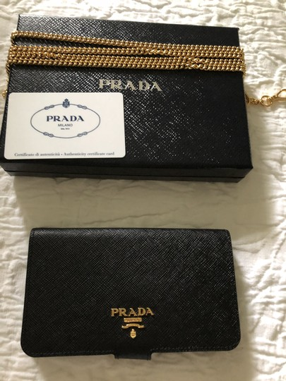 Prada IPhone 8 case saffiano with removable gold chain Image 2