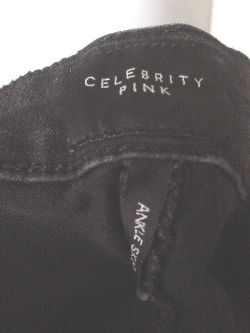 Celebrity Pink Denim Casual Work Style Stretch Juniors Skinny Jeans-Dark Rinse Image 4