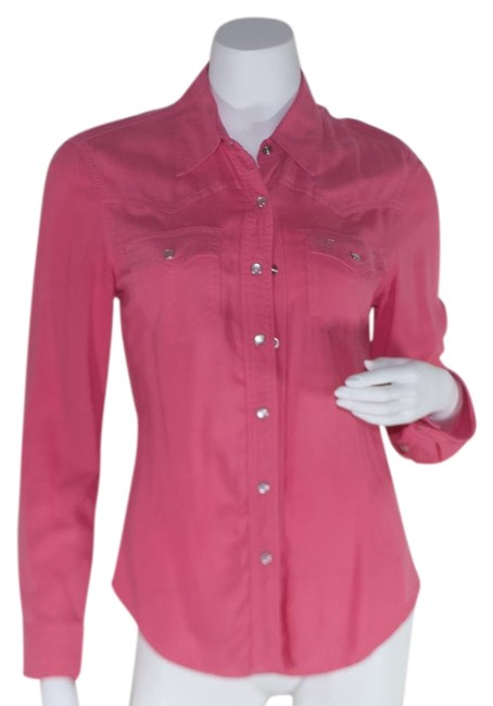 Item - Pink Long Sleeve Shirt Button-down Top Size 4 (S)