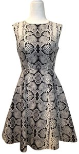 Nanette Lepore Reptile Animal Print Edgy Fit And Flare Dress
