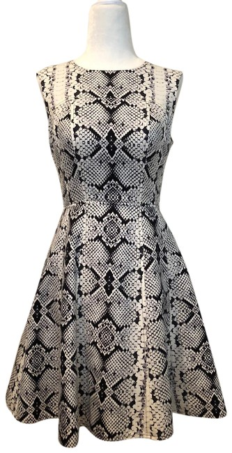 Nanette Lepore Reptile Animal Print Edgy Fit And Flare Dress Image 0