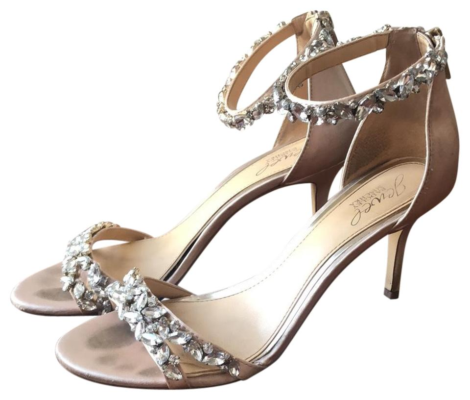 3e898dc39514 Badgley Mischka Bride Champagne Jewel Caroline Formal Shoes Size US ...
