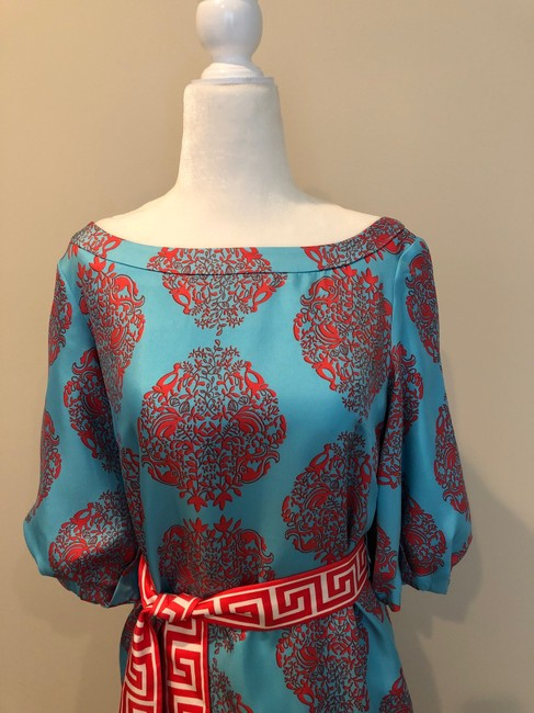 Lilly Pulitzer short dress Multi Print Summer Cinched Turquoise on Tradesy Image 1