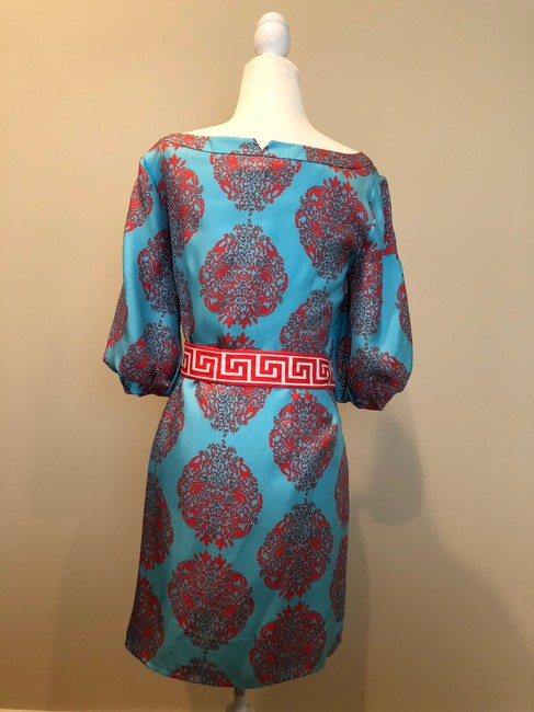 Lilly Pulitzer short dress Multi Print Summer Cinched Turquoise on Tradesy Image 2