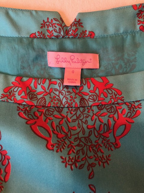 Lilly Pulitzer short dress Multi Print Summer Cinched Turquoise on Tradesy Image 3