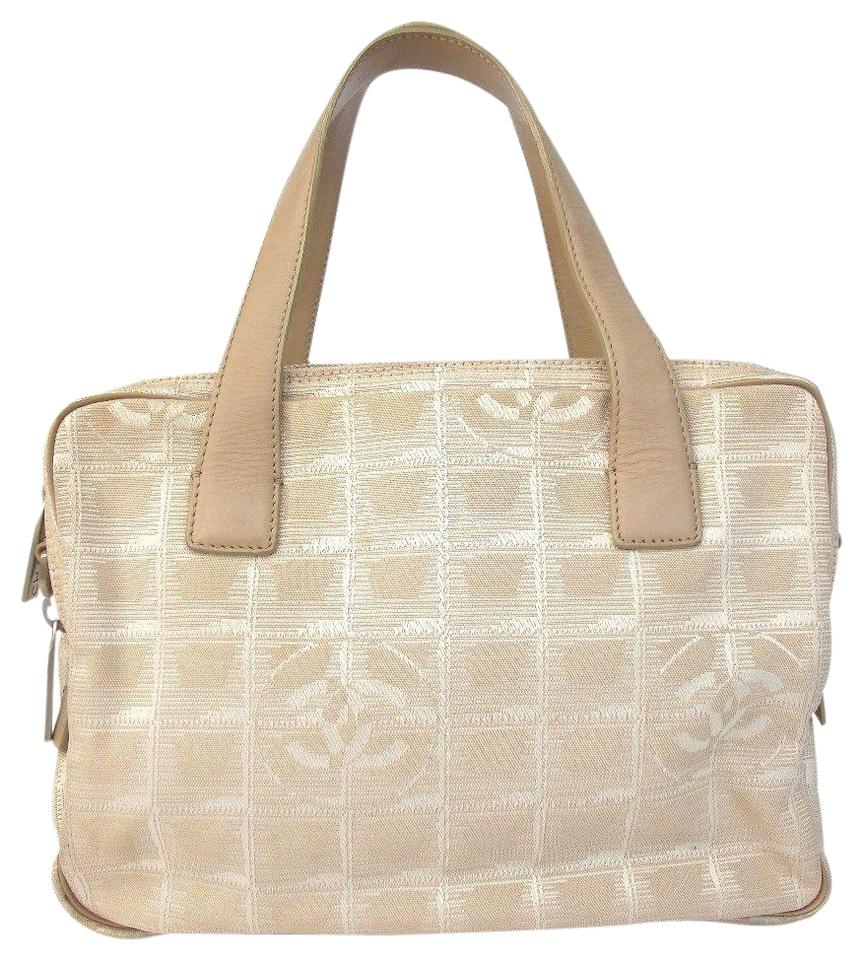 6502a55a8dc328 Chanel Travel Line Beige Light Brown Canvas Tote - Tradesy