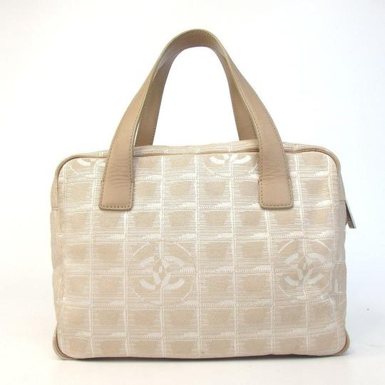 Chanel Travel Line Beige Tote in Light Brown