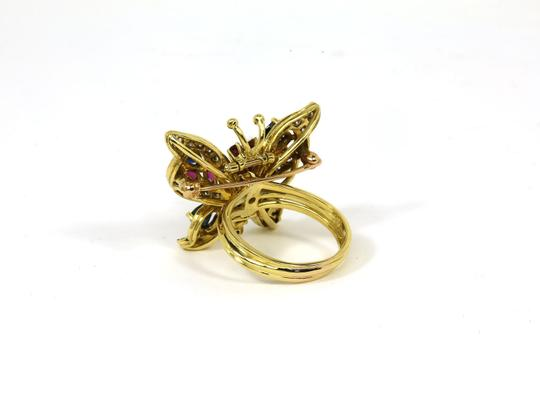 Other Estate 4.10ct Diamonds & Gems 18k Yellow Gold Butterfly Ring/Pin Image 3