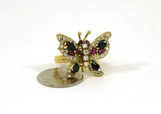Other Estate 4.10ct Diamonds & Gems 18k Yellow Gold Butterfly Ring/Pin Image 5
