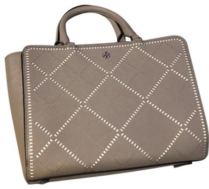 Tory Burch Satchel in French gray / ivory