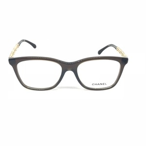 Chanel Chanel Transparent Brown Gold 3362-B c.1599 Eyewear Glasses