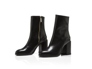 Dear Frances Leather Spirit Ankle Black Boots