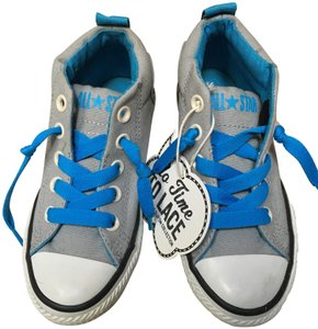 1b0564af8427 Converse Grey Kids All Star No Time To Lace Collection Sneakers Size ...