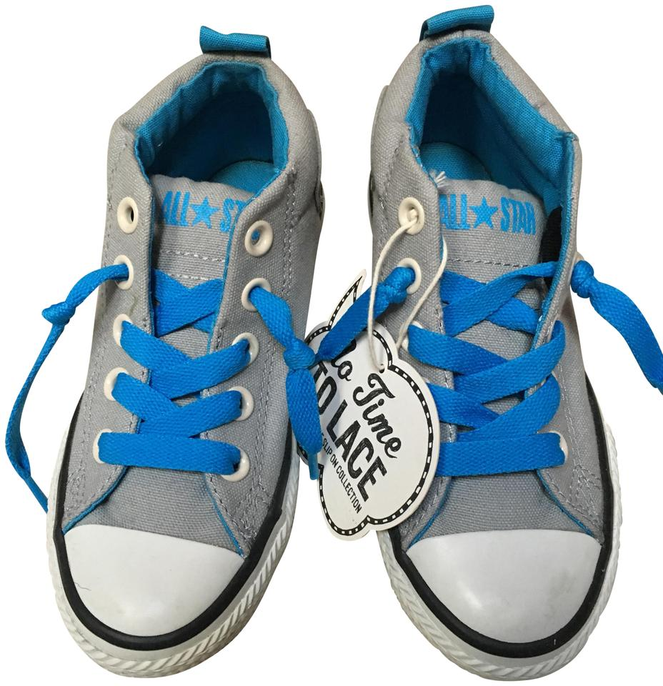 c1108ac4949e Converse Grey Kids All Star No Time To Lace Collection Sneakers Size ...