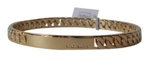 Coach Cross Braid Chain Plaque Bangle