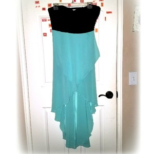 Black and Mint blue Maxi Dress by Decree
