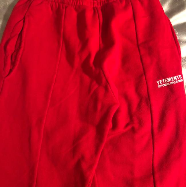 Vetements Straight Pants red Image 1