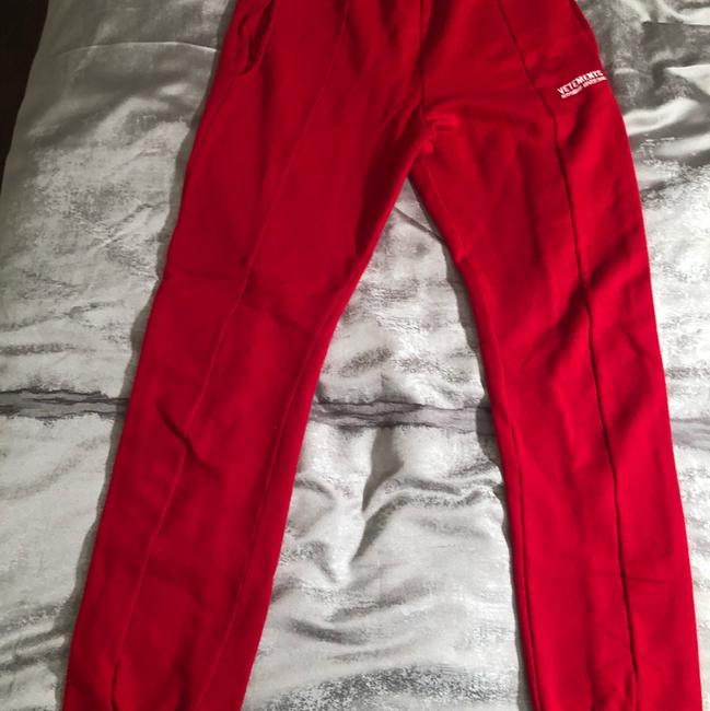 Vetements Straight Pants red Image 5
