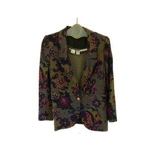 Emanuel Ungaro Moss Green, Purple, Yellow Blazer