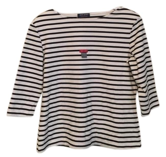 Preload https://img-static.tradesy.com/item/23430469/saint-james-garde-cote-striped-anti-uv-knit-tee-shirt-size-14-l-0-1-650-650.jpg