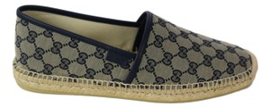 Gucci Blue 466903 Men's Gg Guccissima Canvas Espadrilles 10g/11us Shoes