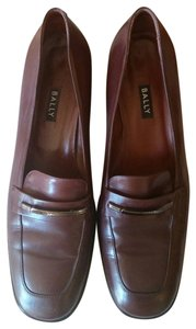 Bally Leather Oxford Heels brown Formal