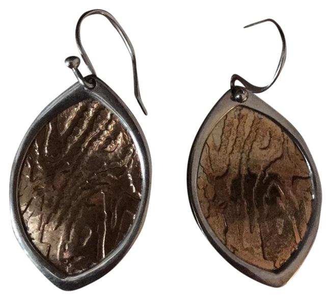 Item - Sterling Silver/ Copper Drop Earrings