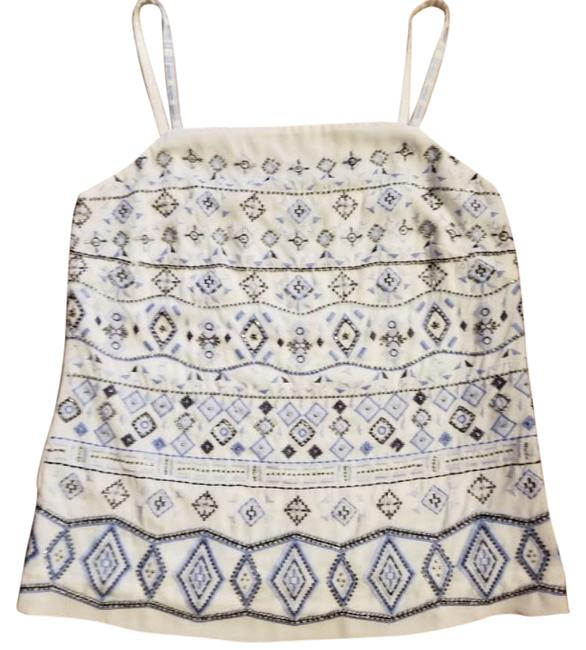 Item - Embellished Embroidered Cami Silver Top