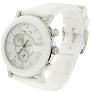 08cde737103 Gucci White Gold Finish Coupe 40 Mm Square Stainless Steel Diamond ...
