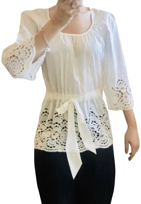 Item - Cream Anthropologie with Lace Accent Pants Size 4 (S, 27)