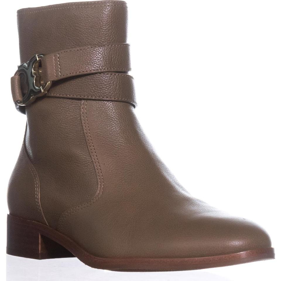 35914a4e5fb8 Tory Burch New Coconut Brown Gemini Link Boots Booties Size US 8 Regular  (M