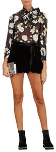Free People Velvet Tie Mini Skort black