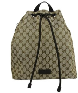 Gucci Beige/Brown Canvas 449175 9790 Backpack