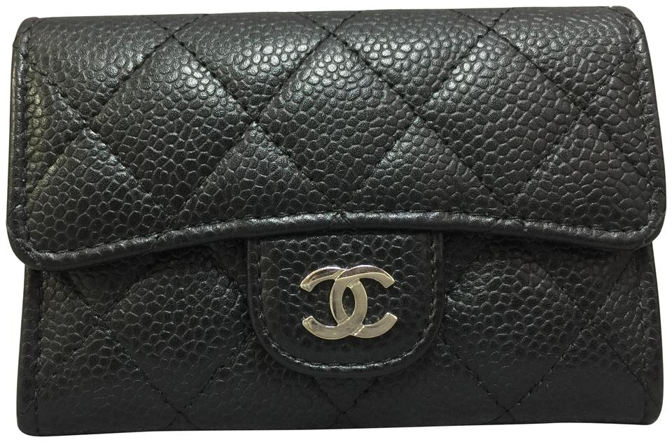 Chanel black caviar business card holder wallet tradesy chanel chanel black caviar business card holder wallet reheart Choice Image