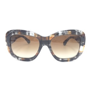 Chanel Square Transparent Brown Gray Multi-color Sunglasses 5324 1521S5